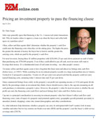 Real Estate Magazine - Pricing an Investment Property - Guidelines for Passing the Financing Clause