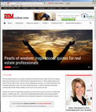 Real Estate Magazine - Pearls of Wisdom: Insprational quotes for real estate professionals