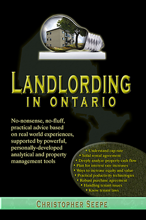 Landlording in Ontario real estate book by Christopher Seepe